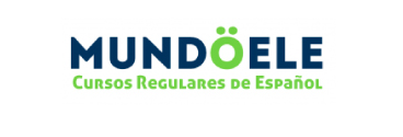 MUNDOELE's logo, general Spanish lessons, annual courses, 1-1 lessons, private lessons in every level